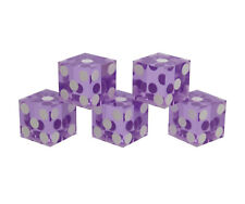 Get Out!™ Precision Casino Dice 6-Sided 19mm Playing Dice Translucent Purple 5pk
