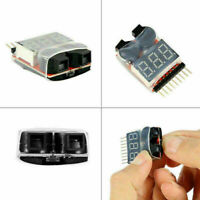 RC Lipo Battery Low Voltage Alarm 1S-8S Buzzer Indicator Checker Tester Sup H2Z7