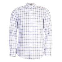 Hugo Boss Camisa Azul Blanco Cuadros Delgado Talla 39cm/39.4cm Cuello Tr 170