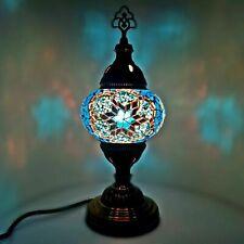 Turkish Table Lampe Marocain Coloré Verre Mosaïque Lampe Lumière Vente
