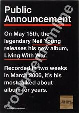 Neil Young Living With War LP Advert