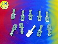 Stk. 10x Kabelschuhe 6.3mm 1.5-2.5mm2  Flat plug / Flachstecker  Verzinnt #A1681