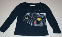 New Carter's Girls Top 3T 5T 6 7 8 14 yr Glitter Graphic Solar System Happy Sun
