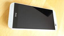 HTC One m8 32gb argento con pellicola/senza SIM-lock/senza branding * COME NUOVO *
