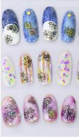 Nail Art Water Decals Stickers Transfers Black White Flowers Daisies (STZ300)