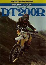 YAMAHA DT200R My Motorcycle Enjoy Manual Book
