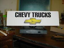 CHEVY TRUCKS/GENUINE CHEVROLET SIGN