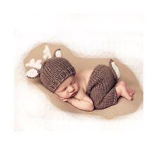 Newborn Baby Photography Props Outfits Lovely Boy Crochet Knitted Hat Pant Girl
