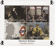 SHERLOCK HOLMES CONSULTING DETECTIVE MINIATURE MNH STAMP SHEETLET 2013