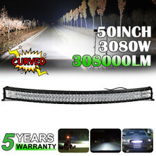 Curved 50inch 3080W LED Light Bar Flood&Spot Roof Driving Truck RZR SUV 4WD 52''
