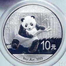 2014 CHINA PANDA Bamboo TEMPLE of HEAVEN Silver 10 Yuan Chinese Coin PCGS i86668