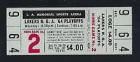 1963-64 NBA ST. LOUIS HAWKS @ LOS ANGELES LAKERS FULL UNUSED PLAYOFF TICKET GM#4