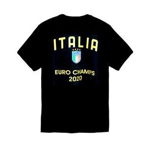 ITALIA Soccer Champs Euro 2020 Forza Azzurri Italia Football T-Shirt Size S-2XL