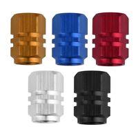 4 Ventilkappen mit Reifenmarkierung Metall Reifen Ventil Kappe Auto Multi Farben