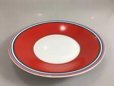 "DKNY Lenox Urban Essentials Cherry Red Porcelain Salad Plate 8.5"" NEW"