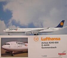 Herpa Wings 1:400 Airbus A340-600 Lufthansa AIHN Gummersbach Fanhansa  562492