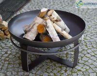 Korono Feuerschale aus Stahl mit Tragering, Durchmesser 80cm, Handmade