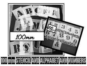 100 MM ALPHABET AND NUMBERS  STENCILS  ---     Stencils,Masks,Templates,Numbers