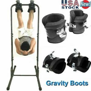 Anti Gravity Inversion Boots Gym Abdominal Fitness Therapy Spine Chin Up US E5K7