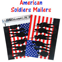 10x13 Patriotic Poly Mailers, Designer Shipping Custom Boutique Flag Envelopes