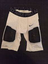NWT NIKE PRO FOOTBALL COMPRESSION SHORTS PADS WHITE SIZE XL