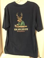 Tommy Bahama Mens Large Rum Rum Rudolph Graphic T Shirt Size Large