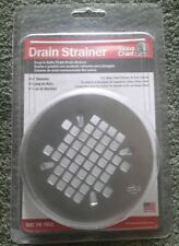 "Drain Strainer stainless steel , Satin finish 4-1/4"" Diameter by Sioux Chief new"