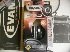 PROEL DH605 - Câble Audio 1 Jack mâle stéréo -2 Jack femelle stéréo 0,3mt -NEW