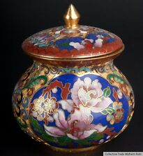 La Chine 20. siècle, Boîte-a Chinese CHAMPLEVE CLOISONNE ENAMEL BOX-cinese chinois