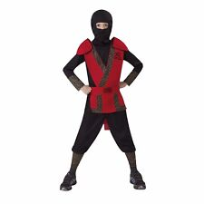Classic Red Ninja Boy's Halloween Costume Child Size 8-10 Medium #R34