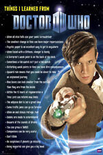 2009 BBC WHAT I LEARNED FROM DR WHO POSTER 24x36 new free shipping