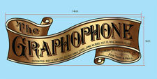 PRECUT SMALLER COLUMBIA GRAPHOPHONE WATER SLIDE DECAL for CYLINDER PHONOGRAPH