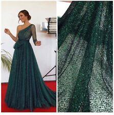 1 yd fabric mesh tulle glitter embroidered bridal lace wedding prom sari saree