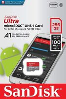 SanDisk® Ultra 256GB microSDXC™ UHS-I SD Card Speed up to 100MB/s C10 U1 A1 New