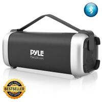 Pyle Portable Bluetooth Wireless Speaker, Rechargeable Battery, FM Radio, USB/SD