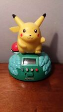 1999 POKEMON Alarm Clock PIKACHU Nintendo Trendmaster