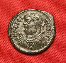 Ancient Roman Silvered Bronze Licinius AE3 Coin