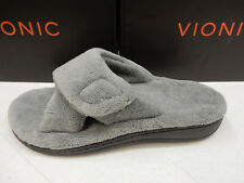 VIONIC WOMENS SLIPPERS RELAX LIGHT GREY SIZE 6