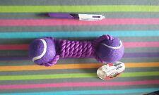 Jouet pour chien balles + corde 22 cm NEUF