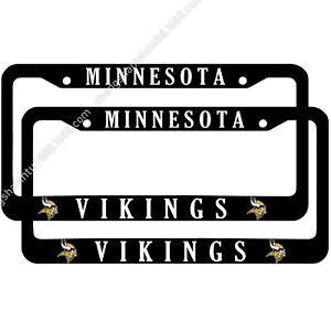 Minnesota Vikings 2PCS Chrome License Plate Frame Set Auto Truck Car Tag Cover