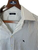 "Mens BURBERRY long sleeve shirt collar 16.5""size 42""/large. Immaculate RRP £175."
