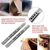 """1 Pair Ball Bearing Slide Rail Cabinet Drawer Runners Slider 8/10/13/16"""" 17mm"""