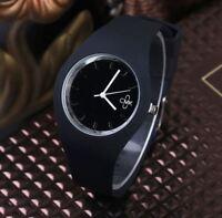 Montre CMK Quartz Sport Bracelet Silicone Femme Homme Enfant Noir