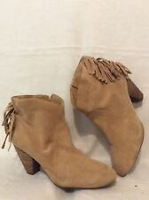 c4a68447c6cd Jessica Simpson Beige Ankle Suede Boots Size 8