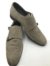 Hugo Boss Made In ITALY Brown Snuff Suede Leather Oxford Men's  Shoes 10 M