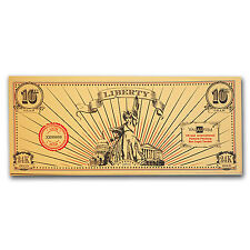 1/10 gram Gold Note - Valaurum (Lady Liberty Design, 24K) - SKU #98527