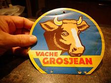 Ancien Carton publicitaire Tel une étiquette du Fromage de la VACHE GROSJEAN