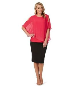 LIZ JORDAN PINK EMBELLISHED OCCASION TOP,NWT rrp $149.(X,/16),MUST SEE