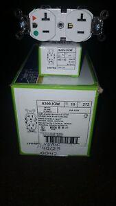 Leviton 8300-IGW 20A Hospital Grade Duplex Receptacle