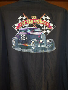 '33 Ford Speed Coupe Mechanic~Shop Short Sleeve Shirt Size: XXL Used/recycled